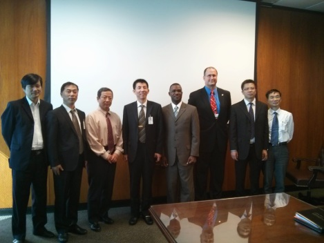 Deputy Directors from the City of Houston's Public Works and Engineering Department meet with engineering delegation