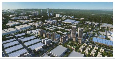 Concept drawing for the Guiyang National High-Tech Industrial Development Zone. From www.gyhtz.gov.cn.