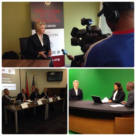 Mayor Parker meets with South African Media