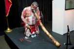 Didgeridoo player performing at the opening reception. Photo courtesy of Trade & Investment Queensland.