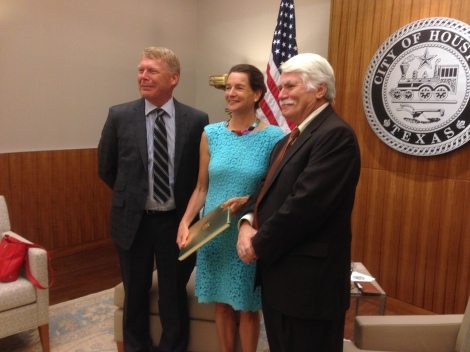 Consul General of the Netherlands in Miami and the Honorary Consul General of the Netherlands in Houston meet with City of Houston Chief Development Officer Andy Icken.